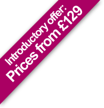 Introdctory offer, Prices from £189